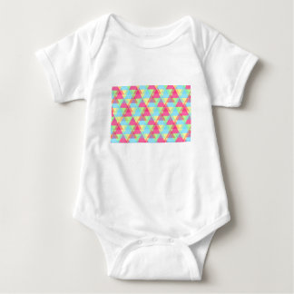 Pastel triangles baby bodysuit