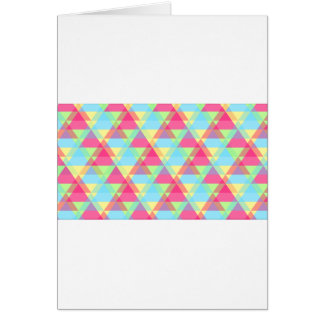 Pastel triangles card