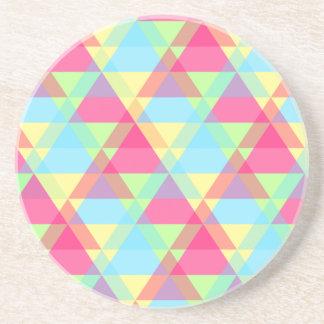 Pastel triangles coaster