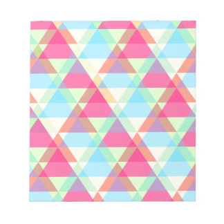 Pastel triangles notepad