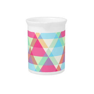 Pastel triangles pitcher
