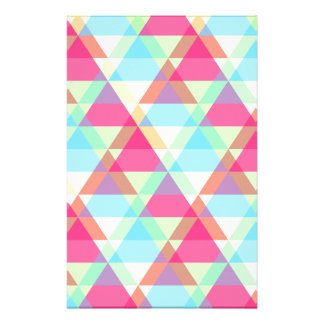 Pastel triangles stationery