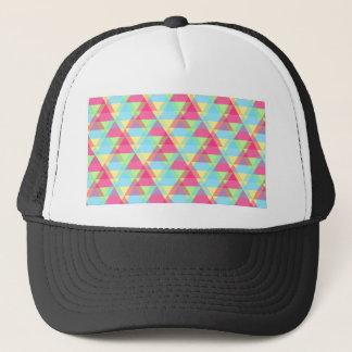 Pastel triangles trucker hat