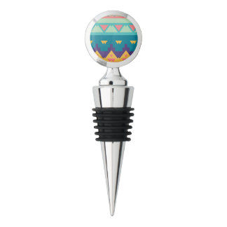 Pastel tribal abstract design wine stopper