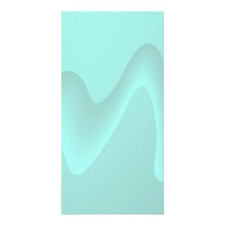 Pastel Turquoise Abstract Swirl Image. Customised Photo Card