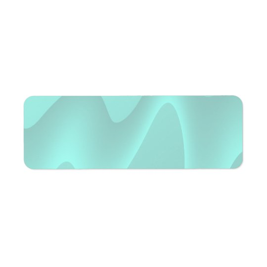 Pastel Turquoise Abstract Swirl Image. Return Address Label