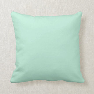Pastel Turquoise and Mint Green Throw Cushion