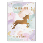 Pastel Unicorn Thank You Card
