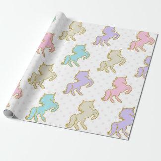 Pastel Unicorn Wrapping Paper