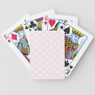 Pastel Valentine Hearts Bicycle Playing Cards