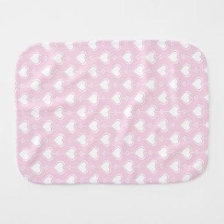 Pastel Valentine Hearts Burp Cloth