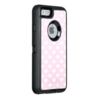 Pastel Valentine Hearts OtterBox Defender iPhone Case
