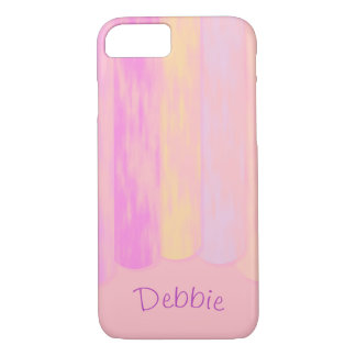Pastel Vertical Distressed Stripes | Personalized iPhone 8/7 Case