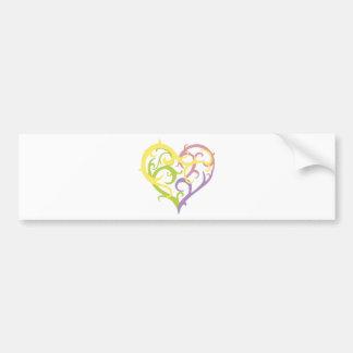pastel vine tattoo heart car bumper sticker