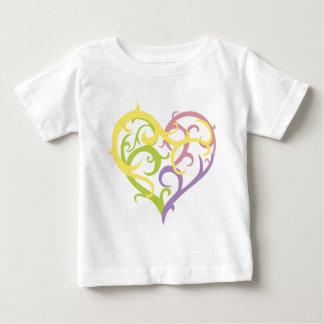 pastel vine tattoo heart t-shirts