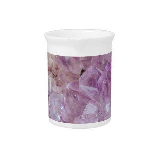 Pastel Violet Crystal Quartz Beverage Pitchers