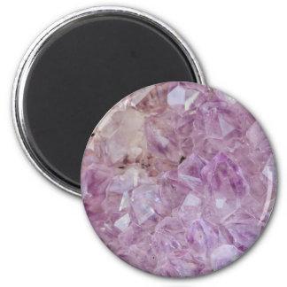 Pastel Violet Crystal Quartz Magnet