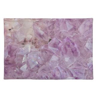 Pastel Violet Crystal Quartz Placemat