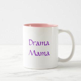 Pastel Walking Drama Masks, Drama Mama Mug