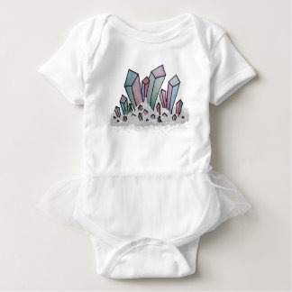 Pastel Watercolor Crystal Cluster Baby Bodysuit