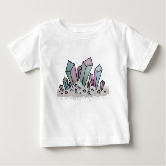 Pastel Watercolor Crystal Cluster Baby T-Shirt