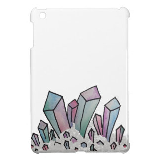 Pastel Watercolor Crystal Cluster iPad Mini Covers