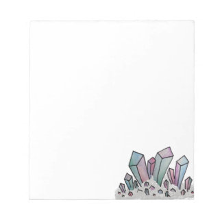 Pastel Watercolor Crystal Cluster Notepad