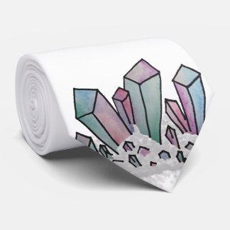 Pastel Watercolor Crystal Cluster Tie
