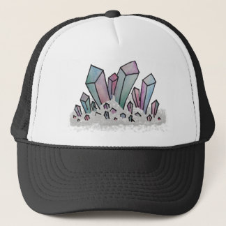 Pastel Watercolor Crystal Cluster Trucker Hat