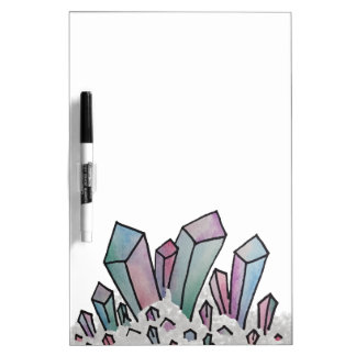 Pastel Watercolor Crystal Cluster Whiteboard Dry Erase Boards