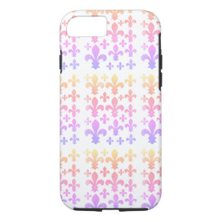 Pastel Watercolor Fleur de Lis Multicolor iPhone 8/7 Case