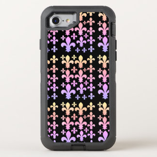Pastel Watercolor Fleur de Lis Multicolor OtterBox Defender iPhone 8/7 Case
