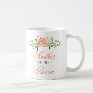 Pastel Watercolor Flowers Mother of the Groom Coffee Mug