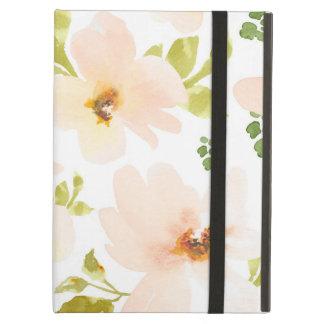 Pastel Watercolor Flowers. Watercolor Flower Gift iPad Air Covers