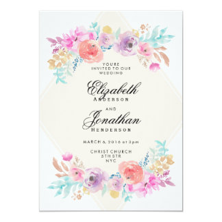 Watercolor Wedding Invitations Announcements