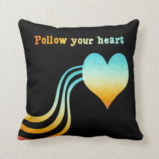 Pastel Watercolor Follow Your Heart Cushion