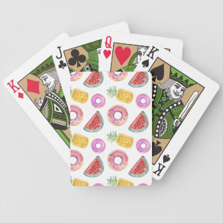 Pastel Watercolor Pool Float Pattern Bicycle Playing Cards