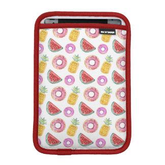 Pastel Watercolor Pool Float Pattern iPad Mini Sleeve