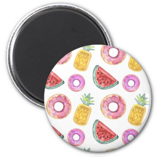 Pastel Watercolor Pool Float Pattern Magnet