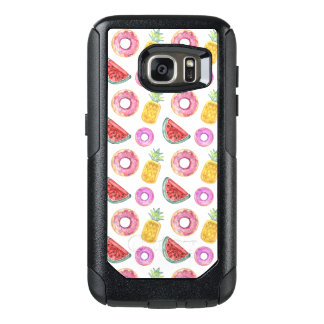 Pastel Watercolor Pool Float Pattern OtterBox Samsung Galaxy S7 Case