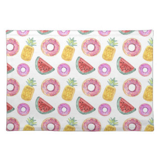 Pastel Watercolor Pool Float Pattern Placemat