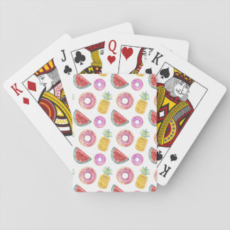 Pastel Watercolor Pool Float Pattern Playing Cards