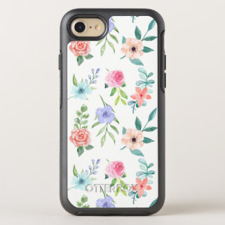 Pastel Watercolor Style Floral OtterBox Symmetry iPhone 8/7 Case