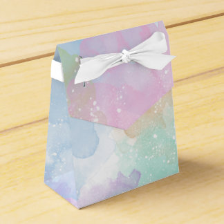 Pastel Watercolor Tent Gift Box Party Favour Box