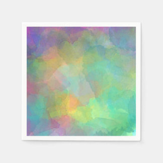 Pastel Watercolors Abstract Art Disposable Napkin