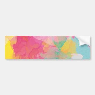 Pastel Watercolors Bumper Sticker