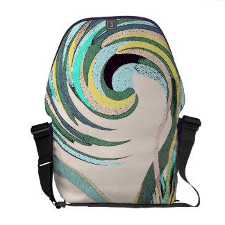 Pastel Wave Abstract Medium Messenger Bag