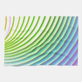 Pastel wave swoosh background stripes pattern tea towel