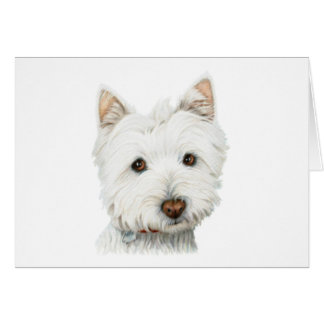Pastel Westie Dog Greeting Card