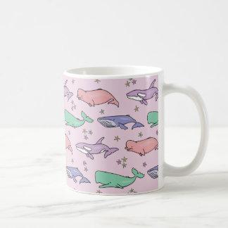 Pastel Whales Coffee Mug